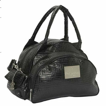 Quilted Traveler Diaper Bag in Black