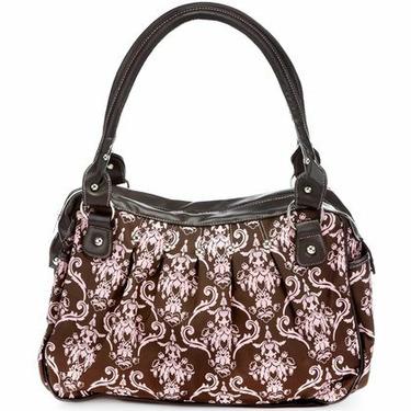Baby Essentials Brown & Pink Victorian Print Bag