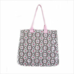 Rock the Tote Diaper Bag in Flutter Pink