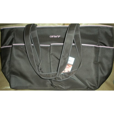 Carter's Brown & Pink Diaper Bag Out 'n About