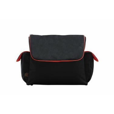 Fleurville Re-Run Messenger Bag, Black/Gray