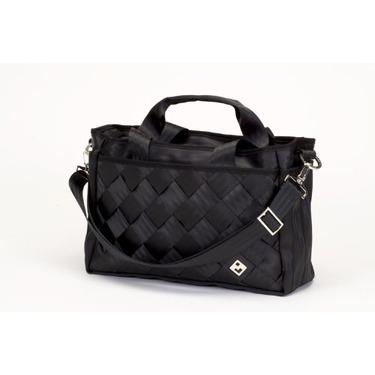 Black Recycled Seatbelt Diaper-Bag (Black)