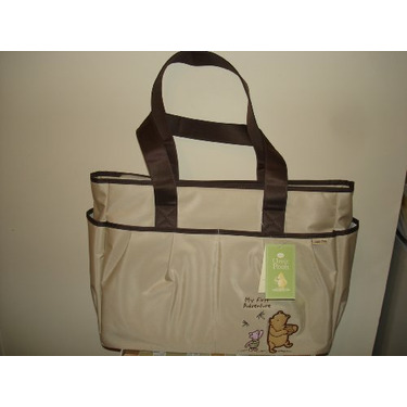 Classic Pooh Diaper Bag 3 in 1 Cream/Brown