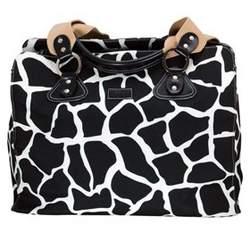 OiOi Tote - Giraffe (Black/White)