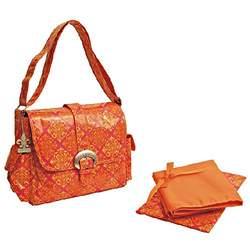 Kalencom Coated Buckle Orange Design Baby Diaper Bag