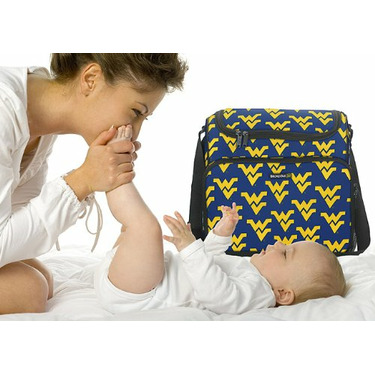 West Virginia University WVU Logo Diaper Bag - Baby Bag for New Dad Father or Mom NEW Mother Baby Shower Gift Idea