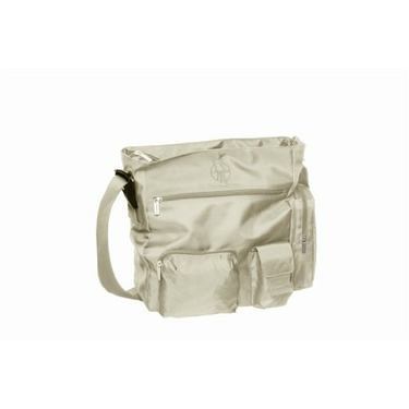 Lassig Easybag Patchwork Eco-Friendly Diaper Bag, Beige