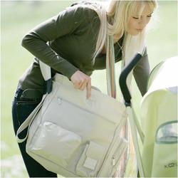 Lassig Easybag Patchwork Eco-Friendly Diaper Bag, Beige