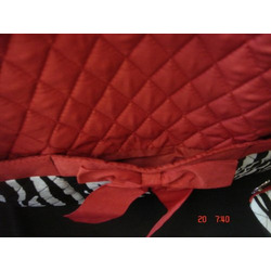 Zebra Print Diaper Bag 3 Piece Set Black Red White