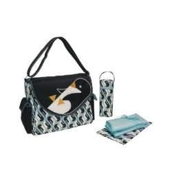 Eleanor Flap Diaper Bag in Penguin