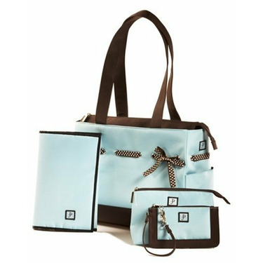 JP Lizzy Chocolate Ice Classic Tote Set