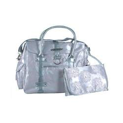 "Baby Phat ""Insignia"" XL Diaper Tote Bag - white/pink/silver, one size"