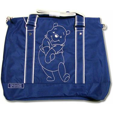 Blue Pooh For You Large Messenger Diaper Bag