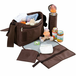 Lassig Small Messenger Eco-Friendly Diaper Bag, Silver Black