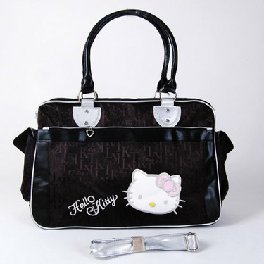 Hello Kitty Shopping Hand Bag Shoulder Tote Black