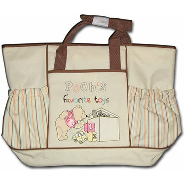 Pooh's Favorite Toys Large Messenger Diaper Bag