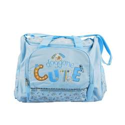 "Baby Essentials ""Doggone Cute"" Diaper Bag - blue, one size"