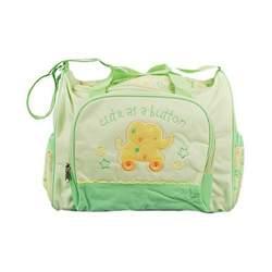 Gerber Large Cute as a Button Diaper Bag - Sage