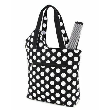 BELVAH - Large Quilted Monogrammable 3 Piece Diaper Bag - Black & White