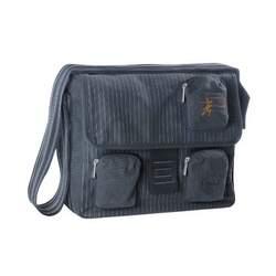 Lassig Vintage Messenger Bag Diaper Bag, Pinstripe