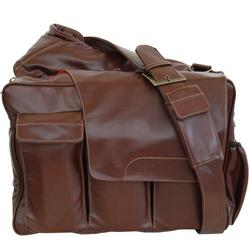 Diaper Dude Messenger Ii Diaper Bag - Brown Pleather