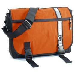 DadGear Diaper Bag-Orange Retro Stripe Messenger - DAD033