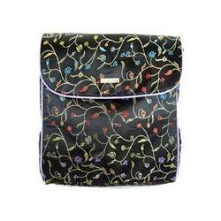 Shanghai Black Convertible Messenger Diaper Bag