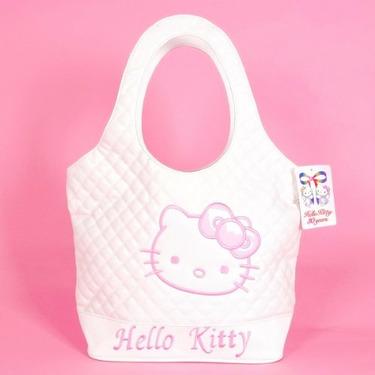 Hello Kitty Tote Bag Shopping Handbag Leatherette