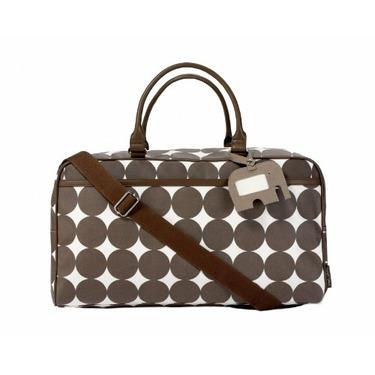 DwellStudio Baby Dots Chocolate Weekender Bag