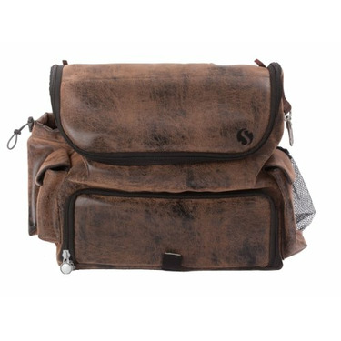 WhodaThought Mrs. Smith's Classic Pack Diaper Bag, Antique Brown Vegan Leather