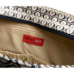 StorkSak Suzi Messenger Diaper Bag,Navy Kasbah,one  size