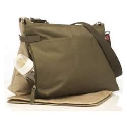 BabyMel X2 Diaper Bag - Sand & Army Green Twin