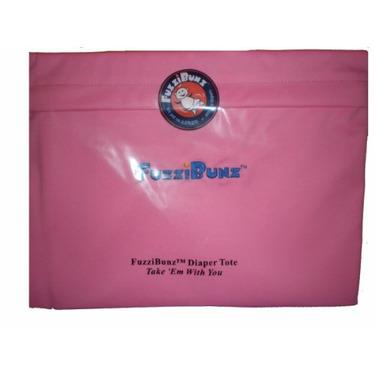 FuzziBunz Reusable Travel Diaper Tote Wet Bag - Bubblegum Pink