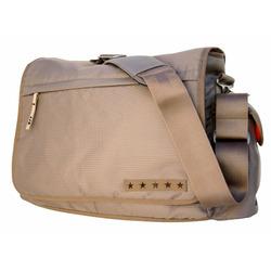 Ju Ju Be Messenger Dad Bag, Khaki/Mandarin