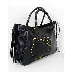 Hello Kitty Shoulder Hand Bag Tote Handbag Black