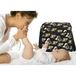 Purdue University Boilermakers Logo Diaper Bag - Baby Bag for New Dad Father or Mom NEW Mother Baby Shower Gift Idea