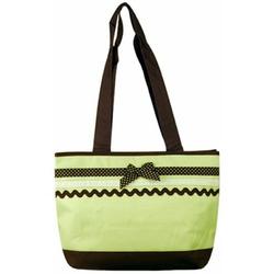 Baby Essential Green Polka Dots Ribbon Shoulder Diaper Bag