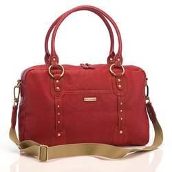 Elizabeth Leather Diaper Bag Red