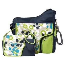 JJ Cole System Diaper Bag - Blue Vine - FLU113-1