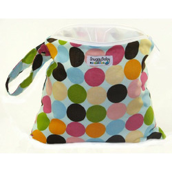 Snuggy Baby Wet Bag - Blue Mod Dots