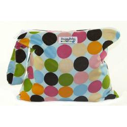Snuggy Baby Wet Bag - Blue Mod Dots