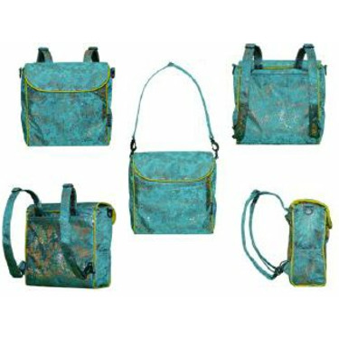 Shanghai Frizzi Steal Blue Covertible Messenger Diaper Bag