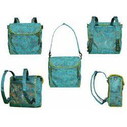 Shanghai Frizzi Steal Blue Covertible Messenger Diaper Bag
