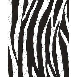 BELVAH - Quilted Monogrammable 3 Piece Diaper Bag - Zebra & Black