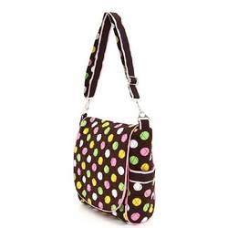 Belvah Polka Dot Multi Color Messenger Style Baby Diaper Bag