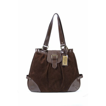 timi & leslie Ruby Suede Convertible Baby Bag - Chocolate