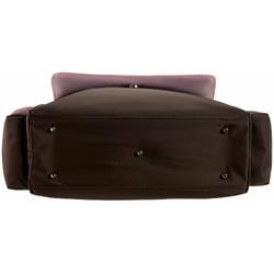 OiOi Chocolate/Pink Messenger Diaper Bag