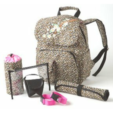 Chic Blase's Leopard Bagpack Diaper Bag Perfect Gift For the New Mom!