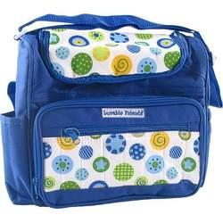 Luvable Friends Bright Colors Diaper Bag - Blue