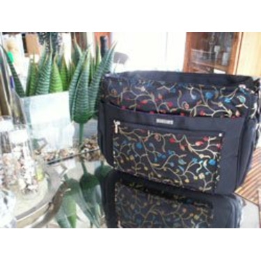 Voyager Diaper Bag Tote in Midnight Black